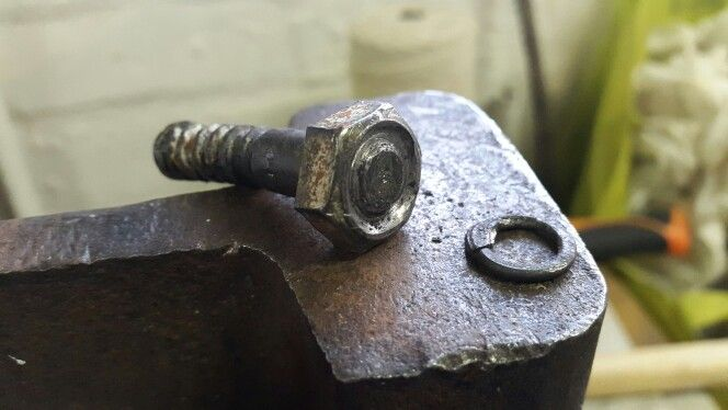 Maile stamping bolt. Modified bolt to create a more evenly formed and pressed link