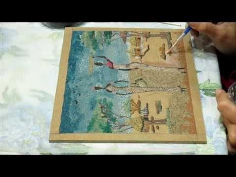 Quadro africano con sabbia colorata - YouTube
