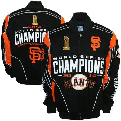 San Francisco Giants 2014 World Series Champions Cotton Twill Jacket - Black In Stock - Ships Within One Business Day $139.95