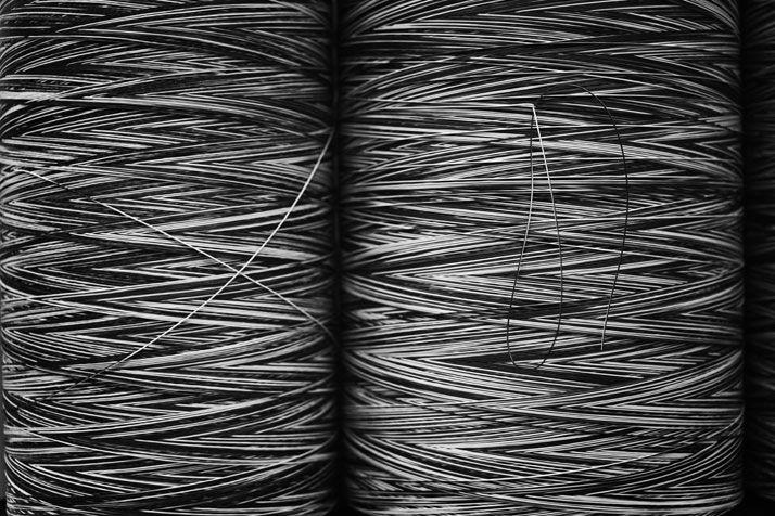 Threads.  Photo: Tobias Regell  #Bolon #Weaving