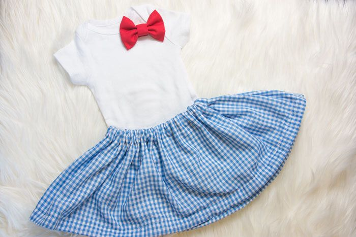 Dorothy Halloween Skirt and bow Set- Dorothy Halloween costume, blue gingham skirt and red bow by AllThatGlittersBaby on Etsy https://www.etsy.com/listing/248512008/dorothy-halloween-skirt-and-bow-set