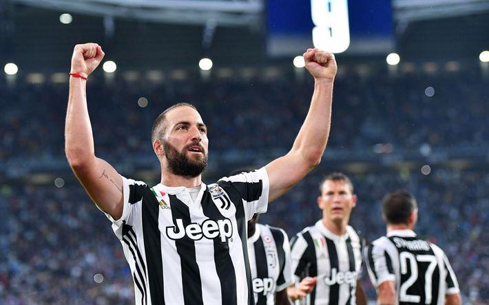 Descargar fondos de pantalla Gonzalo Higuaín, la Juve, los paisajes, de la Juventus, de Italia, de la Serie a, fútbol
