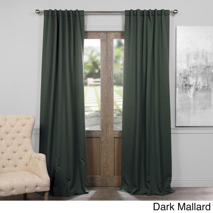 exclusive fabrics solid blackout 96inch curtain panel pair dark mallard