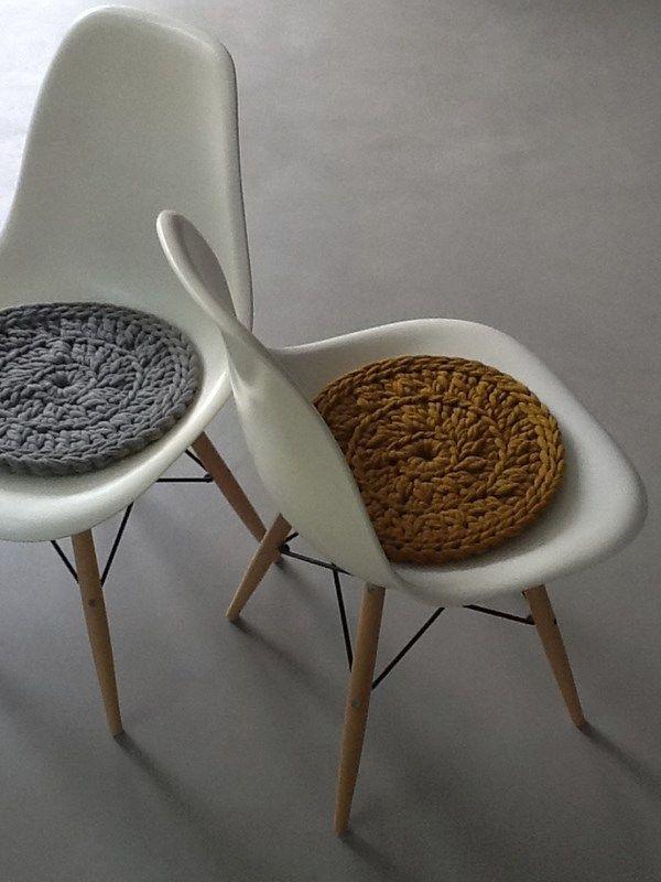Hæklet puder til stol