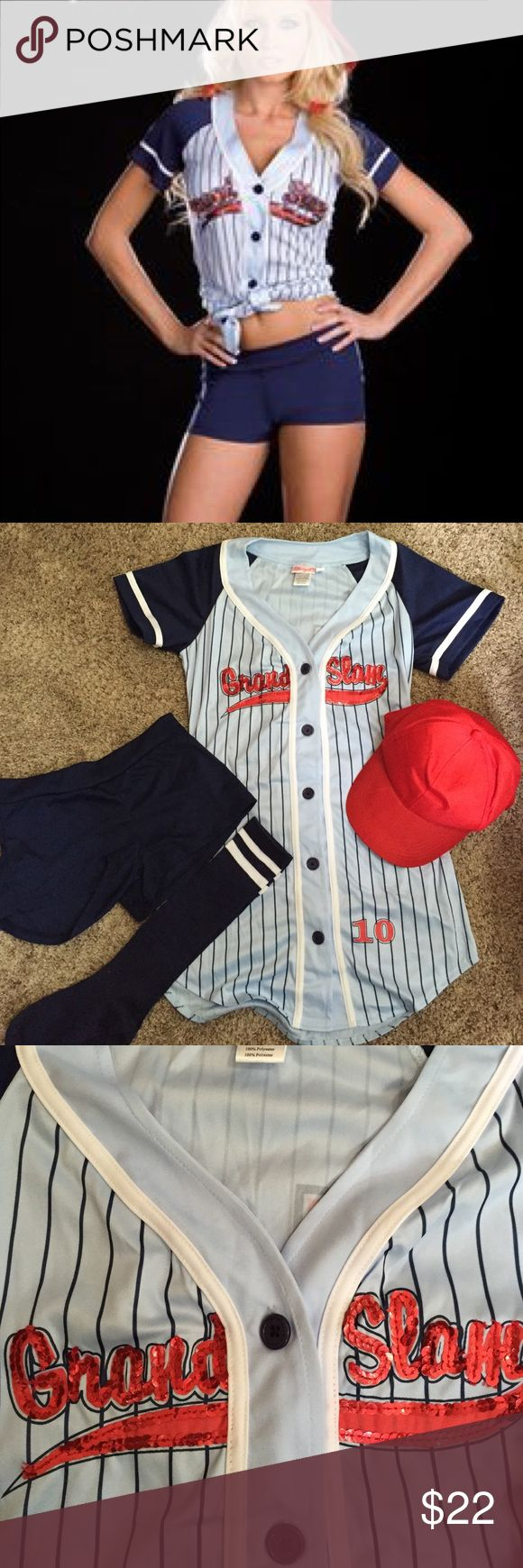 Baseball ⚾️ Halloween costume! •Super cute baseball costume •Comes with top, shorts, hat and knee high socks! •Excellent condition- NEVER worn! Other