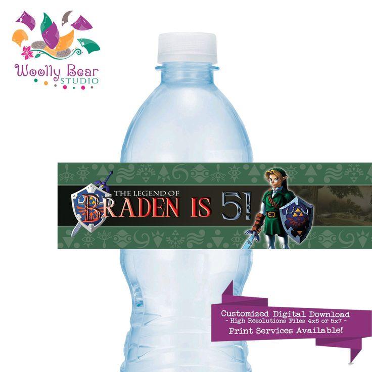 Water Bottle Zelda: 16 Best Kid's Birthday Decor, Games & Favors Images On