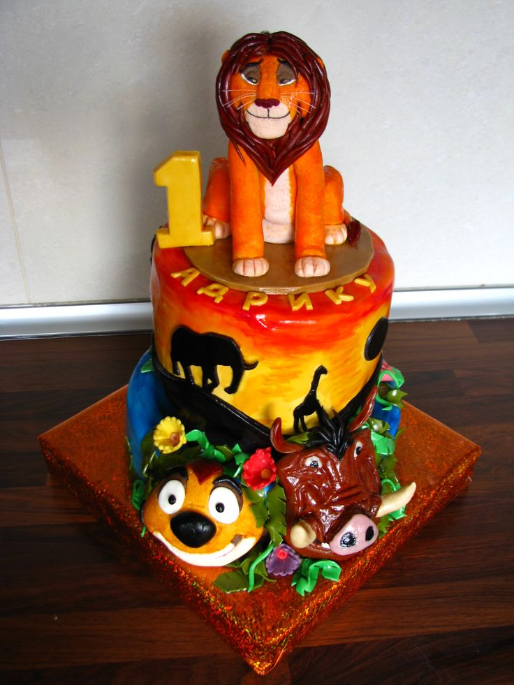 The Lion King cake for Adrian's 1st birthday VIII