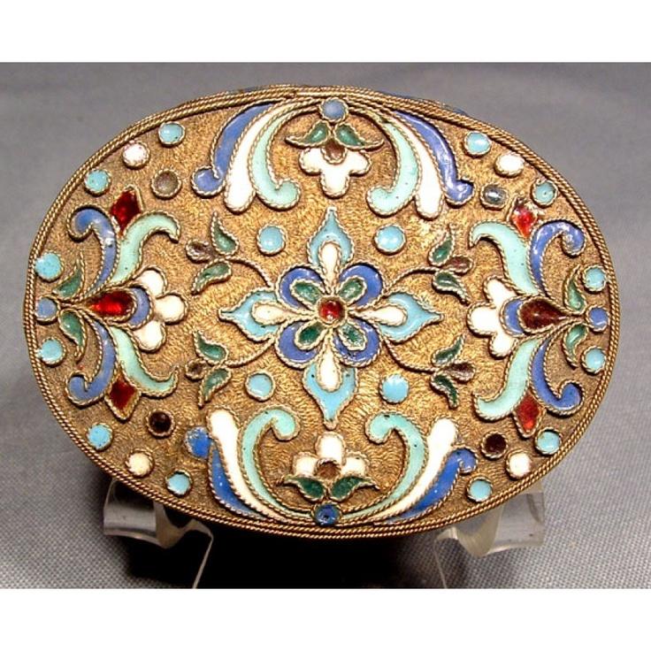 [SOLD] Antique #Imperial #Russian Silver Enamel #Snuff Box