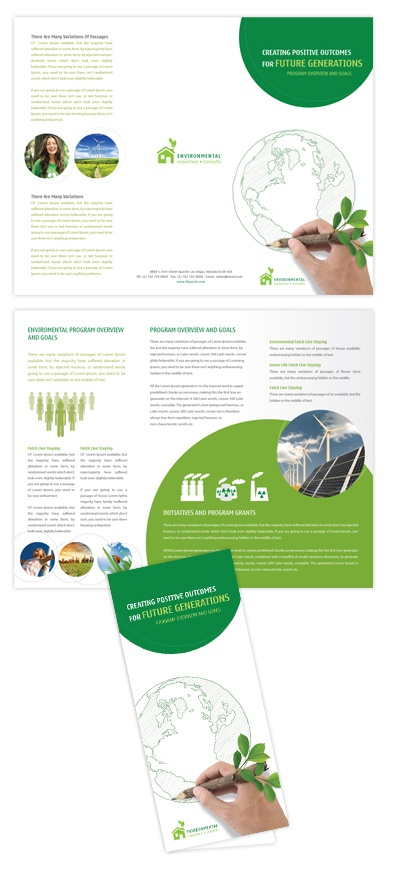230 best brochure flyer design images on pinterest for Environmental protection plan template