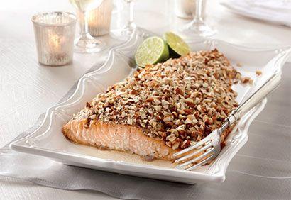 Filet de saumon en croûte d'amandes