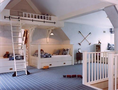 attic playroom stair surround