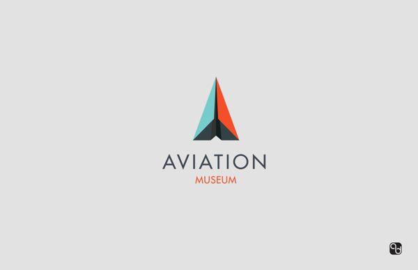 Aviation Museum Logo Design On Behance Geometric Style