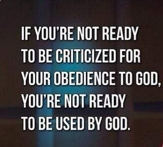 Not just for your obedience, but also for saying you are a Christian who believes the Bible is the word of God & that Jesus Christ is the only way to be saved.