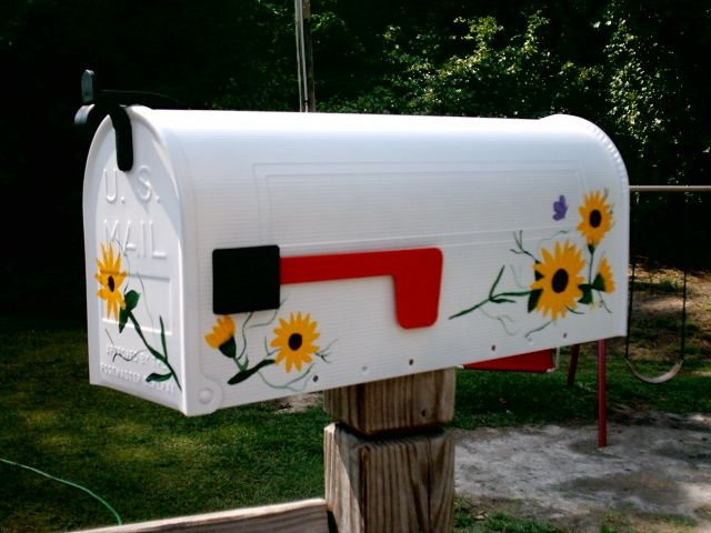 Hand Painted Personalized Mailboxes | fruit mailbox, flower mailbox