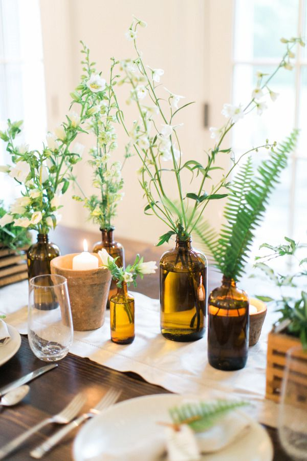 17 best ideas about dining table decorations on pinterest for Dining table arrangement ideas