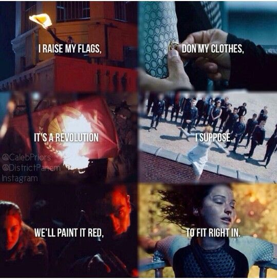 Divergent & The Hunger Games Radioactive <<< I listened to The song while reading this XD