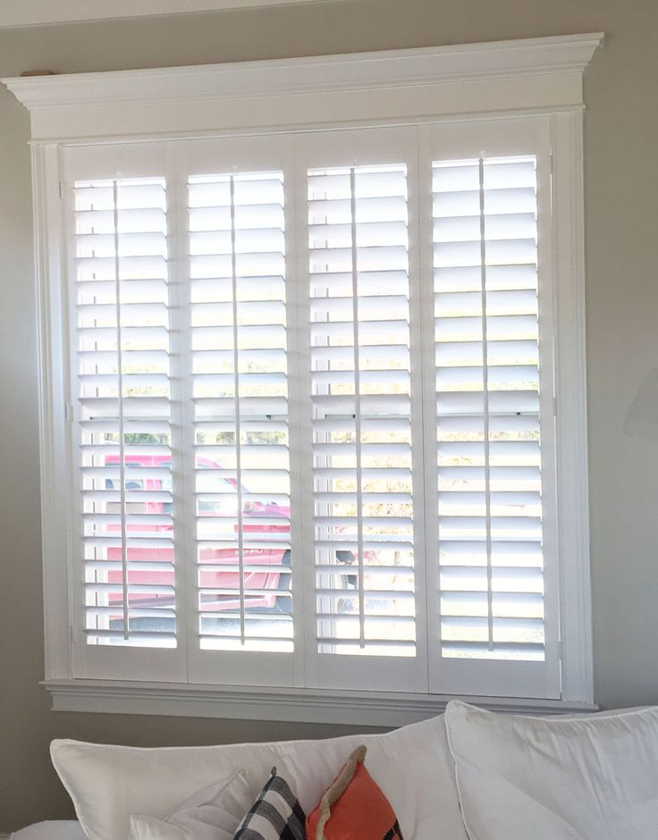 Best 25 plantation blinds ideas on pinterest window for Indoor wood shutters white