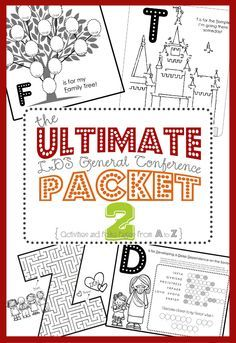 ALL NEW Ultimate LDS General Conference Activity Packet   from FoodStorageAndBeyond.com