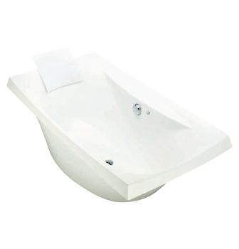 Escale Freestanding BubbleMassage Bath    Features:    Freestanding acrylic bath (fully reinforced)  Multiple air holes releasing tiny bubbles  Two piece design (bath and skirt)  Tapware deck  Simple drop on guide bush floor location system  Feet are adjustable  Included Components:    40mm chrome pop-up waste and overflow