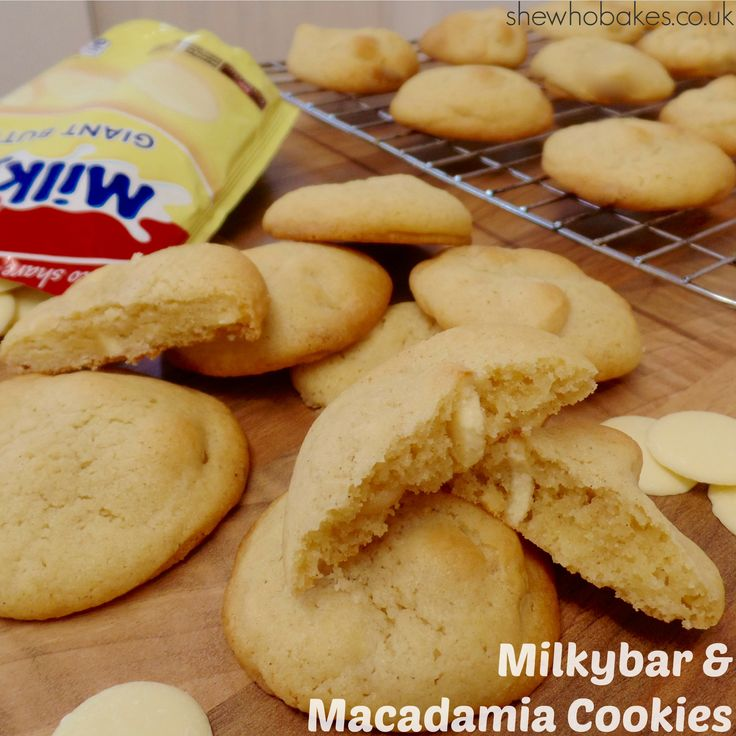 Milkybar & Macadamia Cookies by She Who Bakes