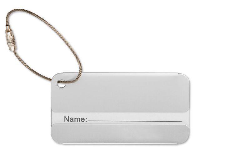 Etichetta bagaglio in alluminio