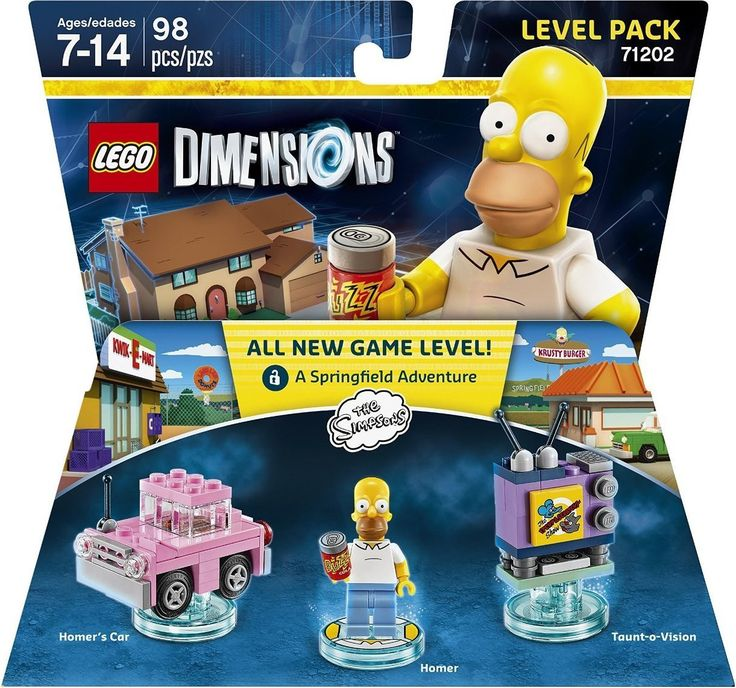 Lego Dimensions Level Pack 71202 Simpsons Level Pack