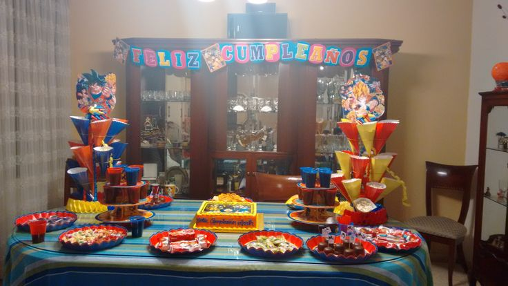 68 Best Images About Dragon Ball Z Party On Pinterest Gable Boxes The Theatre And Birthday Cakes