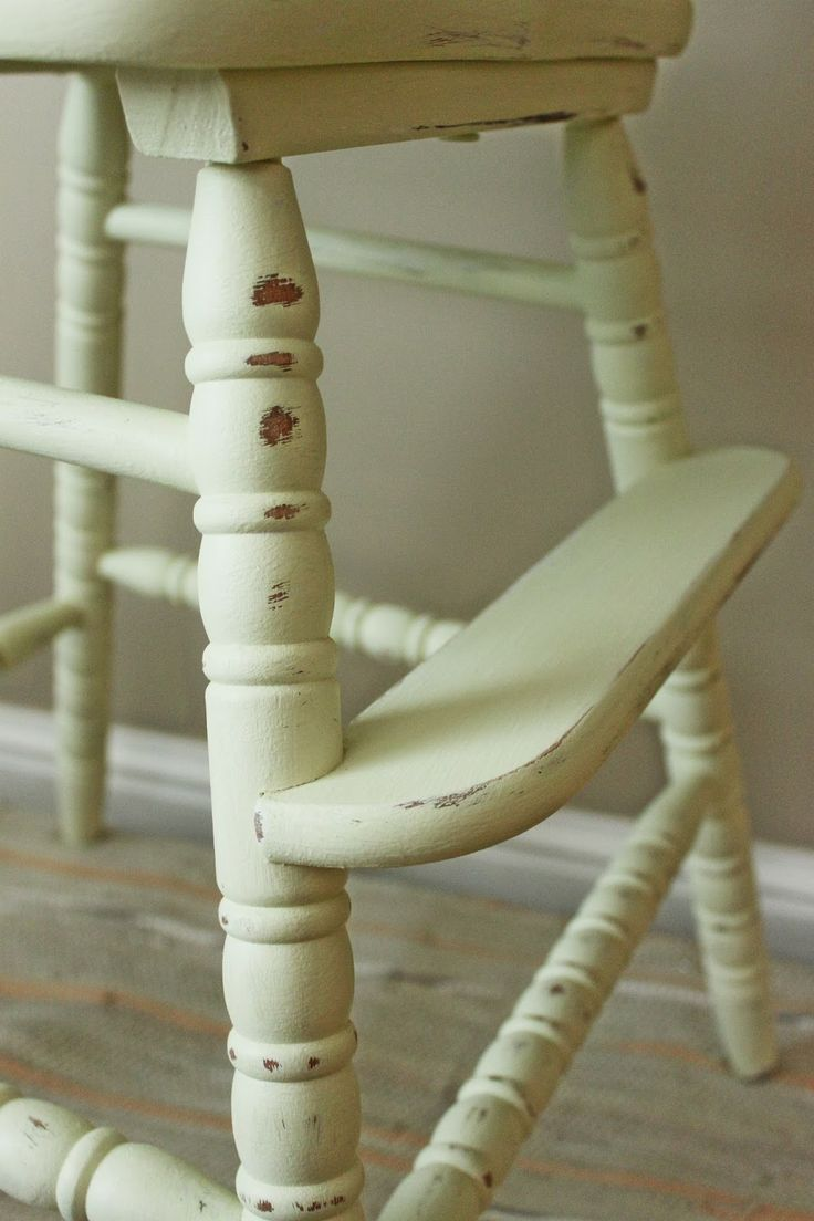 Painted wooden high chairs - Vintage Painted High Chairs