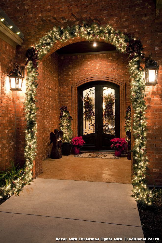 Decor with Christmas Lights with Traditional Porch, kitchen lighting from Decor with Christmas Lights