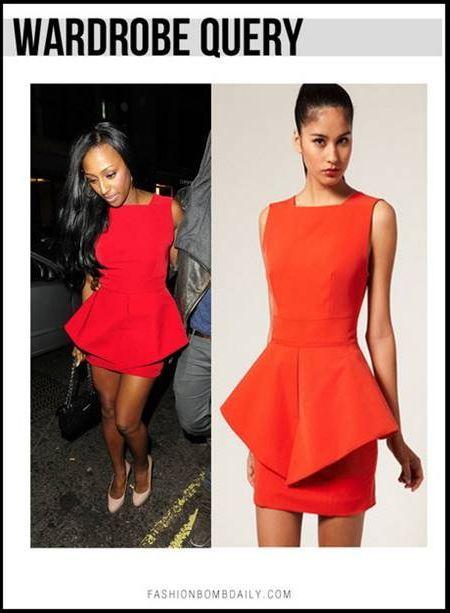 Cool Red peplum dress 2018-2019
