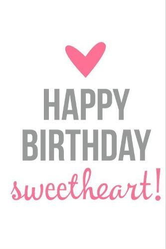 Happy birthday sweetheart, love of my life & best friend. Dedicate this amazing birthday quote to your bf, gf, him, her, hubby, wife, life partner who is celebrating his/her b-day.