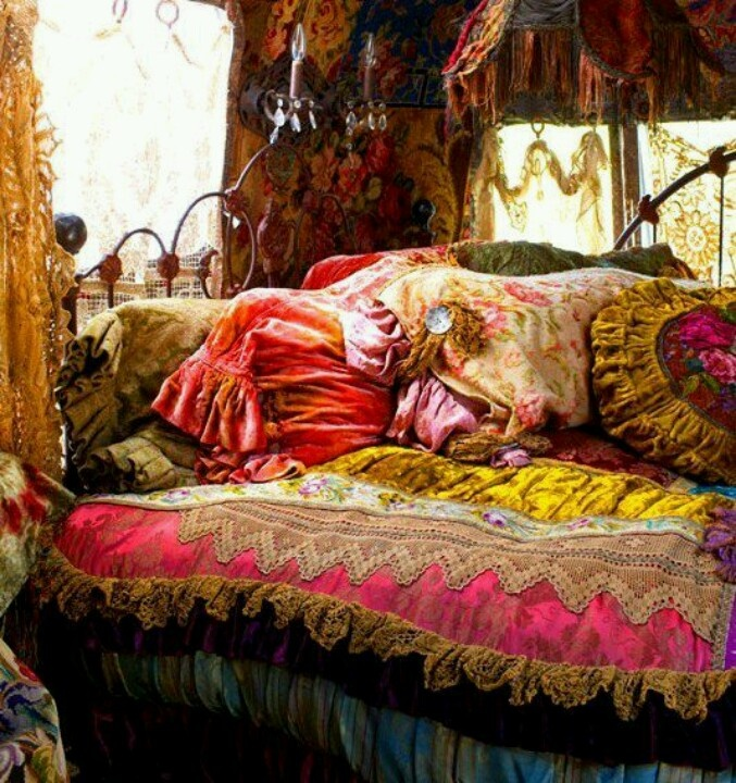 comfy hippie bed  dream room.  Pinterest