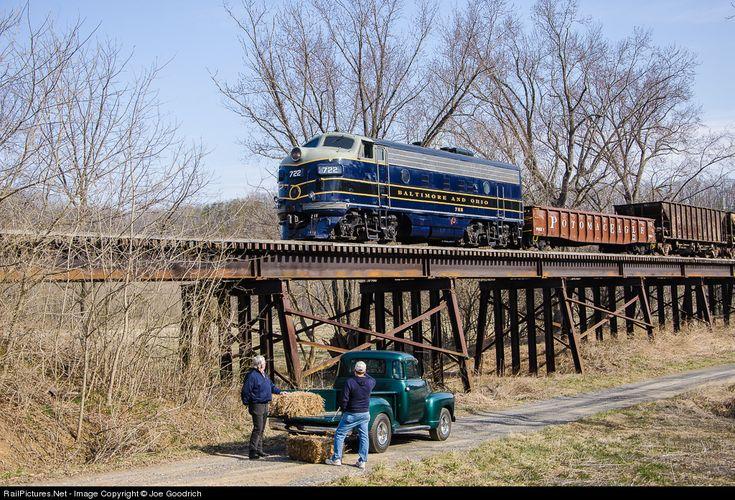 RailPictures.Net Photo: BO 722 Baltimore & Ohio (B&O) EMD F7(A) at Romney, West Virginia by Joe Goodrich
