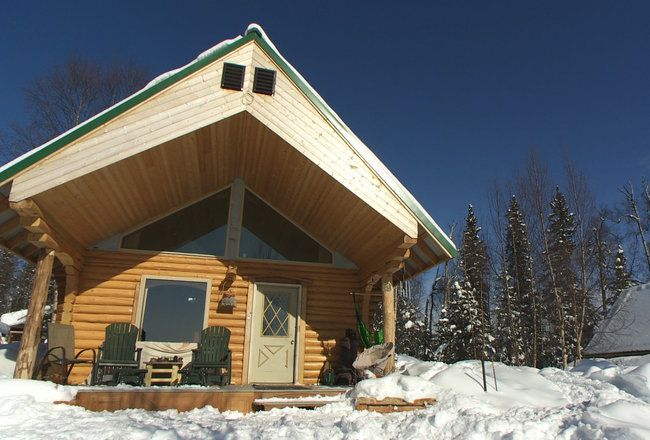Unique shape cabin cabins cabinporn buying alaska for Alaska log home builders