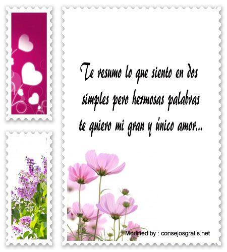 textos de amor gratis para enviar,mensajes de amor para compartir en facebook: http://www.consejosgratis.net/frases-para-decir-te-quiero/