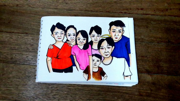 Hand drawing My family