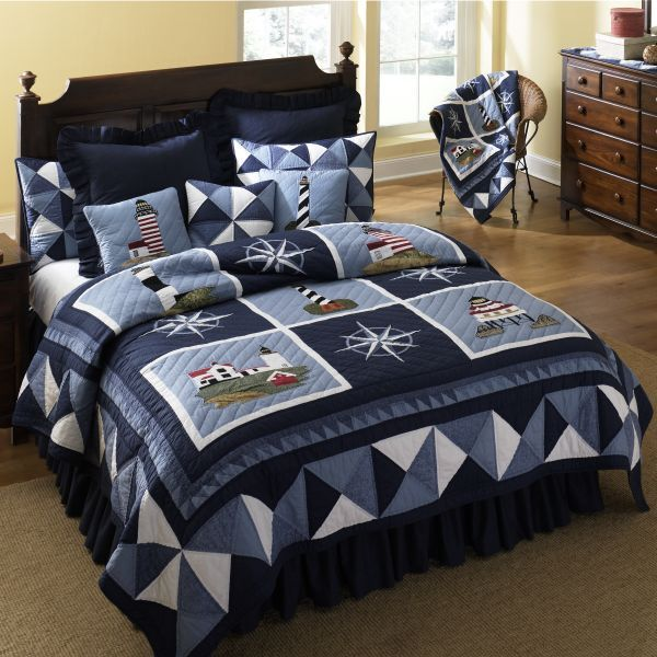 Blue Lighthouse Quilt