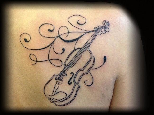 violin tattoo | Tattoos | Pinterest