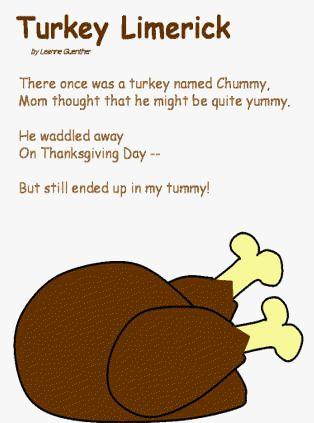 turkey limerick fall kid crafts pinterest turkey poem and search
