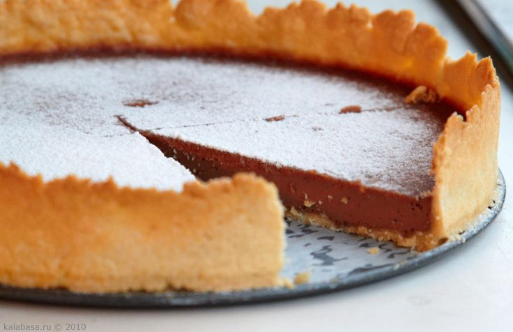 Шоколадный тарт(делать с готовым тестом)