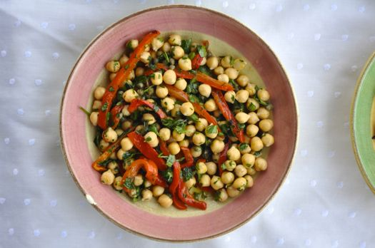 Chickpea Salad with Roasted Red Peppers & Capers | Recipes | Pinterest ...