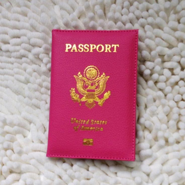 Cubierta Pasaporte americano Rosa Mujeres EE.UU. Pasaporte Elegante marca Funda Protector Lindo Niñas Pasaporte Pasaporte Estuche Protector