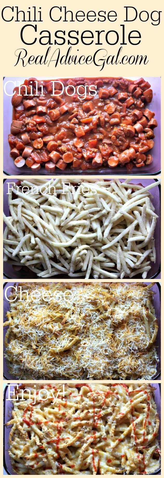 This Chili Cheese Dog Casserole Recipe is perfect for a busy night! It's easy to make and tastes great!