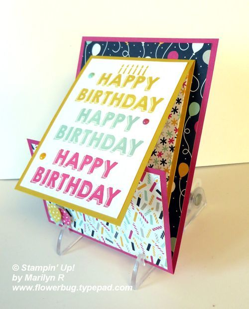 Party Wishes Fun Fold Gift Card from Flowerbug's Inkspot