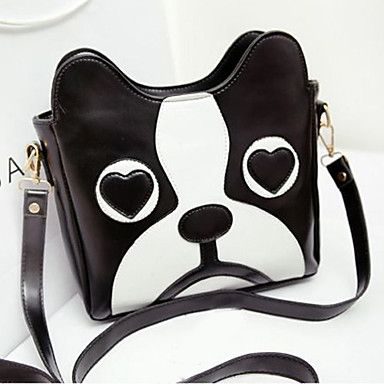 Fashion+Cartoon+Cute+Dog+Head+Pattern+Crossbody+Bag+–+USD+$+21.59