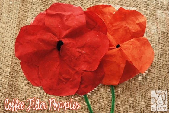 Coffee Filter Poppies - The Story of Ferdinand