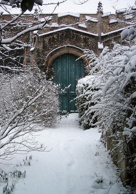 A secret door ~ St Botolph's Church, Cambridge, UK.  It rather reminds me of Narnia.