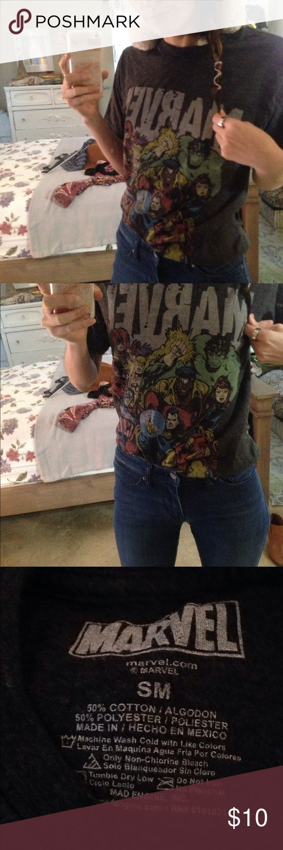 Marvel comic tee small Marvel comic tee sz S good condition from target. Juniors sizing. Tops Tees - Short Sleeve