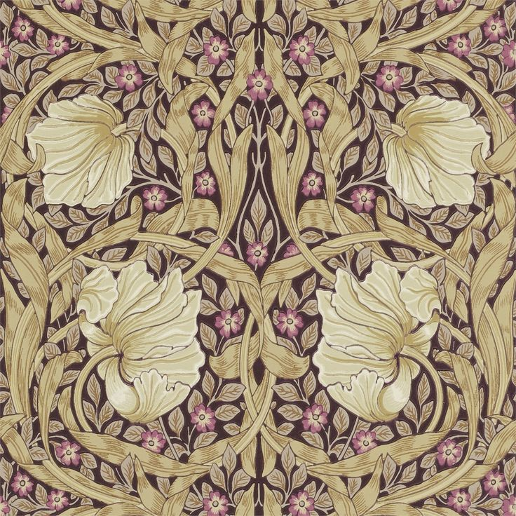 The Original Morris & Co - Arts and crafts, fabrics and wallpaper designs by William Morris & Company | Products | British/UK Fabrics and Wallpapers | Pimpernel (DM6P210390) | Archive Wallpapers