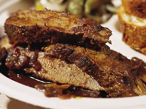 Texas BBQ braised beef brisket. Click for recipe.
